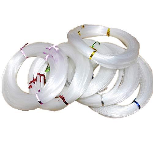 Js-mlq Les diamètres de Ligne de pêche inélastique 0.4mm 1.0mm-Bead Ligne Peche accesoires Ligne de pêche monofilament en Nylon (Line Number : H 0.4MM 10 Bundle)