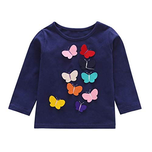 Butterfly Tutu Skirt for Kids 2-7 Years Old PaisDola Girls Clothes Set Cat Pattern Tops T-Shirt