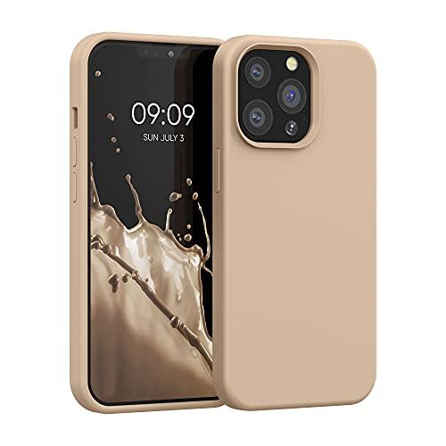 kwmobile Hülle kompatibel mit Apple iPhone 13 Pro - Hülle Silikon gummiert - Handyhülle - Handy Hülle in Perlmutt