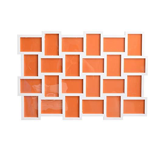 Rebecca Mobili Marcos para Colgar, Marco de Fotos múltiples Blanco, 24 Fotos tamaño 10 x 15, MDF, decoración del hogar - Medidas: 61 x 92 x 1,2 cm (AxANxF) - Art. RE4144