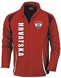 Aprom-Sports Kroatien Trainingstop - Fussball Sport - Rot (L)