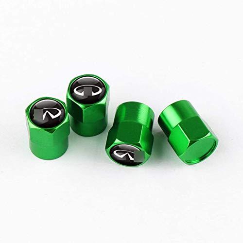 ZYLFP Car Valve Cap For Infi-niti Q50 Q30 Q60 Q70 QX50 QX30, Aluminum Alloy Anti-Theft Anti-Dust Tyre Caps Covers Tyres Accessories
