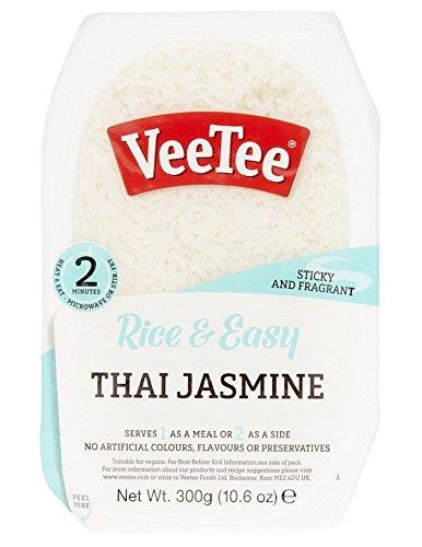 Veetee Dine In Rice - Microwavable Thai Jasmine Rice - 10.6 oz - Pack of 6
