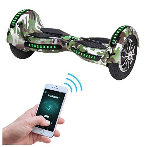 Robway W3 Hoverboard - Das Original - Samsung Marken Akku - Self Balance - 22 Farben - Bluetooth - 2 x 400 Watt Motor - 10 Zoll Luftreifen (Camouflage)