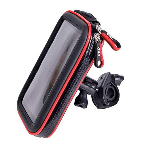 estable Motocicleta Titular de teléfono móvil Actualización Universal Bolsa a prueba de agua Motocicleta Titular de bicicletas Móvil Teléfono Móvil Teléfono Bicicleta Handelbar Soporte Montaje GPS 2 R