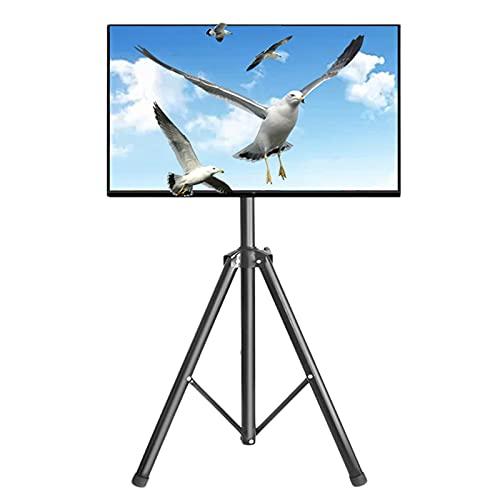 Soporte TV Ruedas Suelo Soporte para trípode de TV, Portátil Soporte TV para televisores de pantalla plana de 32 a 55 pulgadas, Altura ajustable Muestra soporte de TV de piso con VESA 400x400 mm, Sopo
