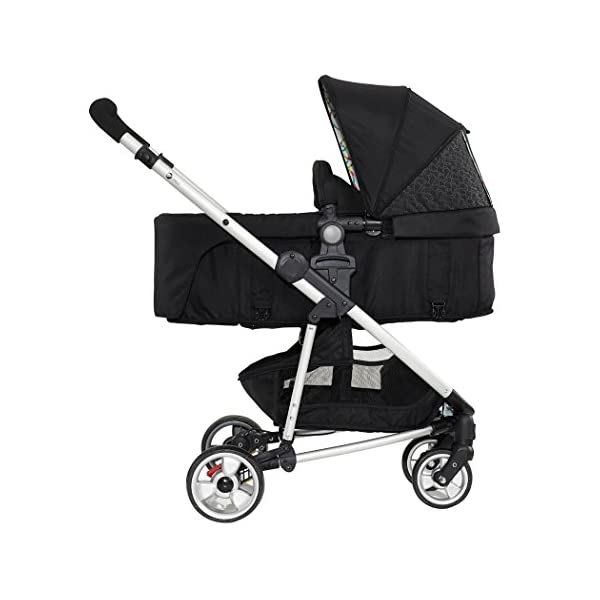 My Child Floe Reversible Convertible Pushchair, Rainbow Squiggle My Child Includes mattress, liner and apron with pocket Extra large hood with peek-a-boo window Seat unit with 3 position recline 4