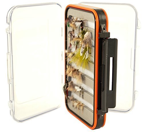 Kingfisher Fly Fishing Box, 2 Sided, Clear, Waterproof, Tough, Holds Hundreds of Flies