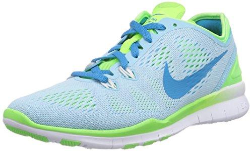 Nike Free 5.0 TR Fit 5 704674, Unisex-Erwachsene Laufschuhe, Blau (Stilles Blau/Blitz-Limone/Weiß/Blaue Lagune 400), 35.5