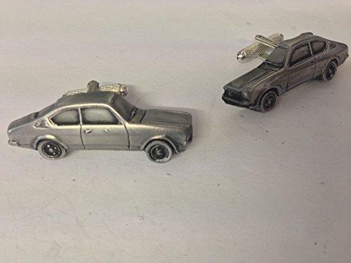 Opel Kadett 3D-Manschettenknöpfe Zinn-Manschettenknöpfe Oldtimer ref172