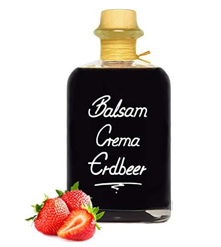 Balsamico Creme Erdbeere 0,5L 3%Säure mit original Crema di Aceto Balsamico di Modena IGP