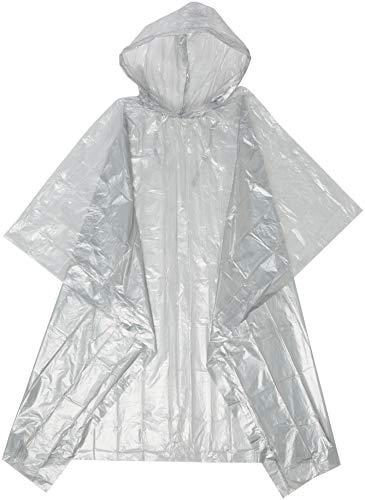 eBuyGB Lot de 6 panchos imperméables à Capuche pour Homme XL Transparent Grey