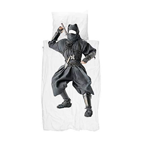 Snurk Ninja - Juego de cama (135 x 200 cm y 80 x 80 cm)