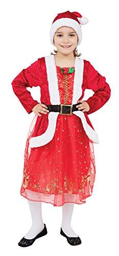 Bristol Novelty Costume de Mère Noël, Taille S, CC686, Multicolore