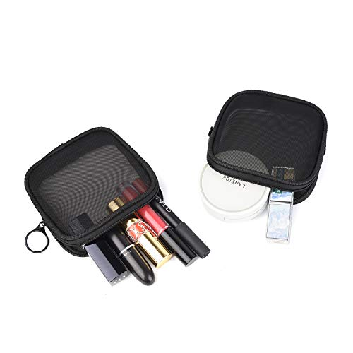 Patu Mesh Travel Toiletry Bag, Transparent Standing Pouch, Portable Shaving Washing Kits Organizer, Personal