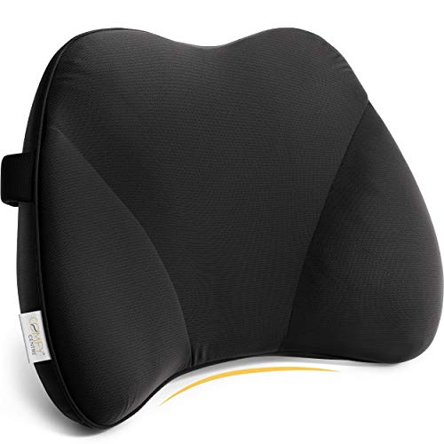 COMFYCENTRE® Ergonomische Rückenkissen Auto & Bürostuhl - Lendenkissen - Lordosenstütze - Rückenstütze Stuhl - Autositzkissen – Lordosekissen - Lendenwirbelstütze - Orthopädisch - Mehr Sitzcomfort