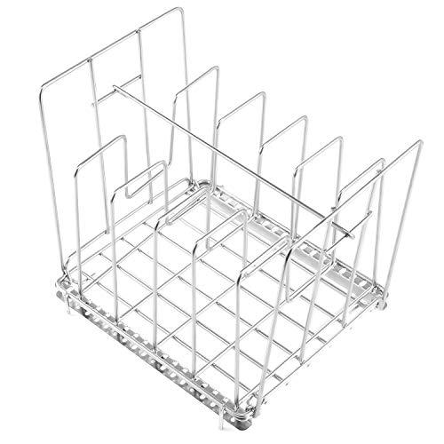 Uarter Verstellbarer Sous Vide Rack Edelstahl Vakuumbeutel Rack mit 5 abnehmbaren Trennwänden und 2 No-Float-Top-Bars, für gleichmäßige und schnelle Erwärmung