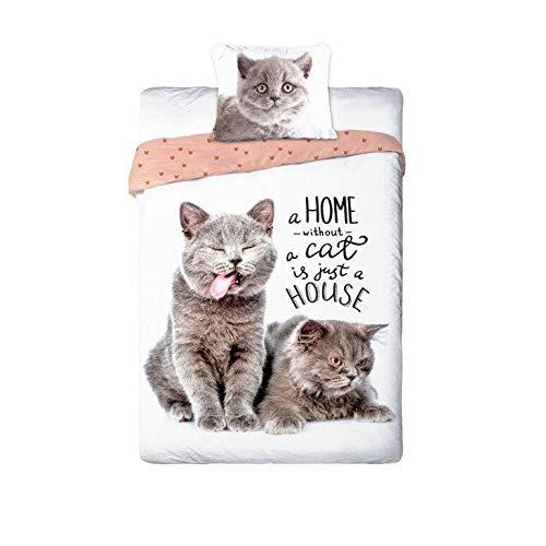 Leuchtturm Bettbezug 2 Stück Cat Cat...