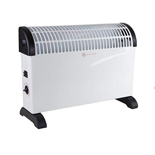 Markenlos Konvektor Heizung, Mobile Wärme, 3 Heizstufen (750/1250/2000 Watt), stufenlos regelbarer Thermostat