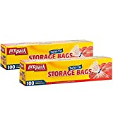 Propack Storage Bags, Original Twist-Tie, One Gallon, 100ct(Pack of 2)