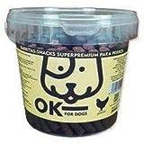 OK FOR DOGS Barritas de Buey/Pollo/Cordero o Salmón con Arroz Snack y Premio Saludable para Perros - Bote con Asa y Cierre 800 gr (Pollo & Arroz)