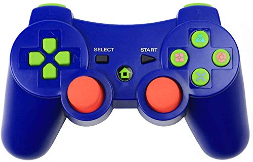 Bluetooth Game Controller Wireless Joystick Gamepad Replacement for PS3 Game Console, Blue
