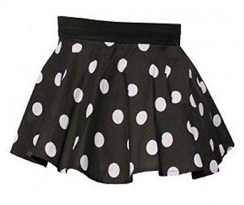 Meisjes Zwart met Witte Vlekken Polka Dot Circulaire Rok leeftijd 5 tot 8 jaar