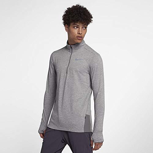 Nike Mens Sphere Element 1 2 Zip Running Top 2.0 (Gunsmoke HTR Small)