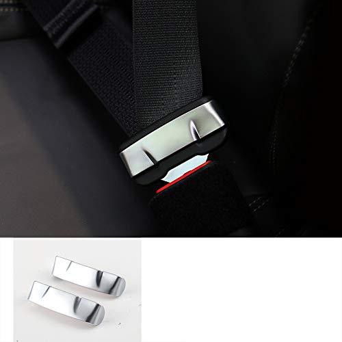 D28JD Sicherheitsgurtschloss Rahmen Zierleisten ABS-Material Schutz Aufkleber für 2015-2020 F-ord Mustang Auto Styling Zubehör,Silber