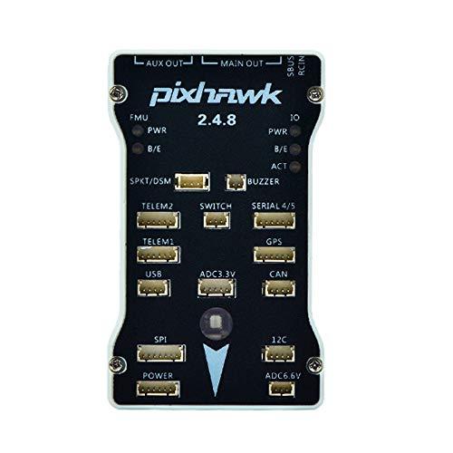 Liseng für Pixhawk 2.4.8 UAV Mehrachsen StarrflüGler PX4 Neue Generation 32-Bit Flug Steuerung Basis Set, für DIY RC Drone Multirotor Wei?