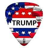 American USA Trump Flag Guitar Picks 12pcs, Guitar Plectrums For Your Electric, Acoustic, Or Bass Guitar Thin, Medium, Heavy 0.46 0.71 0.96 Mm