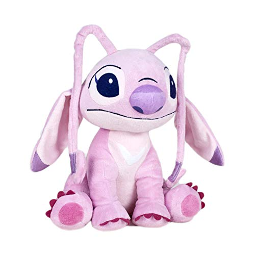 ANGEL Aliena ROSA Amica STITCH Peluche Grande 28cm ORIGINALE DISNEY Lilo Stich QUALITA' TOP