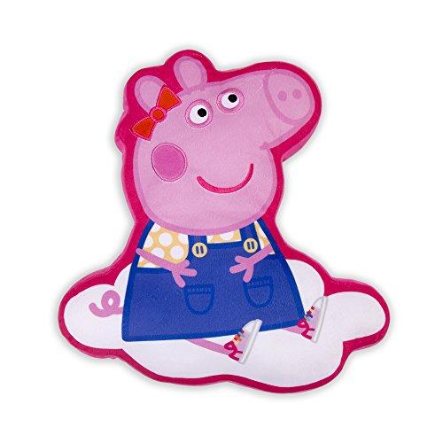Peppa Pig Hooray Grande cojín Almohada Cualquier habitación de los niños, poliéster, Rosa, 29x 38x 7,5cm