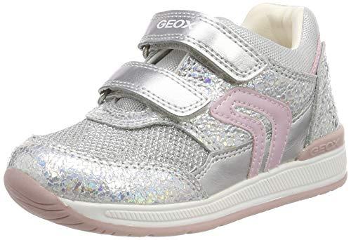 Geox Mädchen B Rishon Girl a Sneaker, Silber (Iridescent C0776), 19 EU
