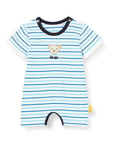 Steiff Baby-Jungen Spielanzug Spieler, Weiß (Bright White 1000), 86 (Herstellergröße: 086)