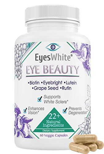 EyesWhite Eye whitening + Beauty Supplement (All Natural Formulation)