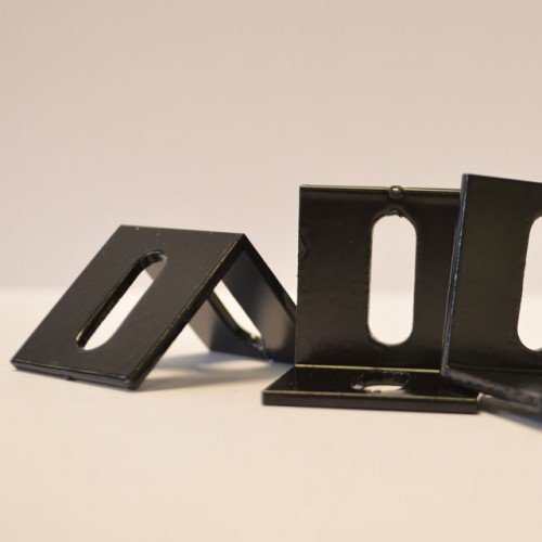 Lot de 10 profilés en L en aluminium noir 3 x 3 x 3 cm