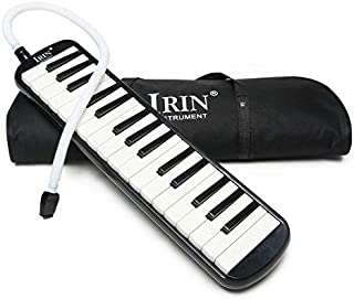 بيانو ميلوديكا 32 مفتاح موسيقي لوحة مفاتيح الاله الموسيقية هارمونيكا مع حقيبة حمل باللون الاسود