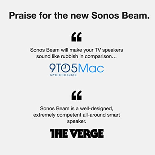 Sonos Beam - Smart TV Sound Bar with Amazon Alexa Built-in - White