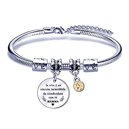 Mom Bracelet Mother's Day Gift from Daughter Son Mother Bracelet Jewelry Birthday Christmas Gift
