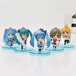 EXTOY 5Pcs/Set Q Version Vocaloid Kagamine Rin Kaito Ren Meiko Mini Keychains PVC Action Figures Toys Pendants Miku Doll Must-Have Friendship Gifts The Favourite Comic 4T Superhero One Collection