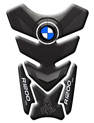 TANK PAD Paraserbatoio RESINATO 3D PER MOTO BMW R1200 GS DAKAR COD.DA-008 (Dark)