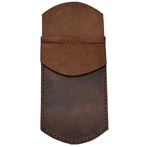Hide & Drink, Durable Leather Pocket Protector, Pencil Pouch, Pen Holder for Shirt Pockets, Lab Coats, Backpacks, Office & Work Essentials, Handmade Includes 101 Year Warranty :: Bourbon Brown