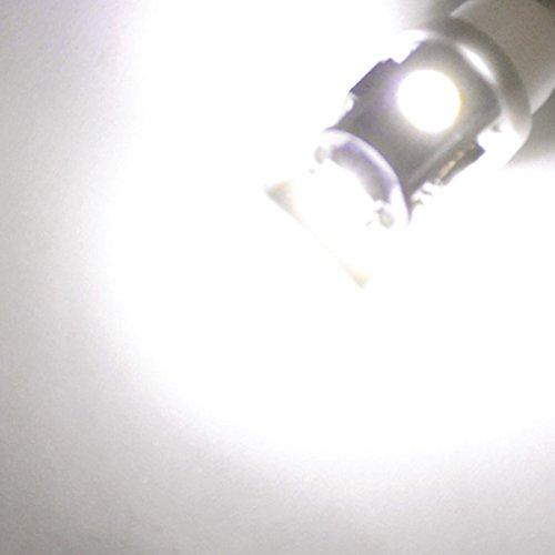 Jtech 20x 194 168 2825 T10 5 SMD White LED Car Lights Bulb by Newest 5050 Chipset Technology