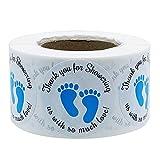 Forwei Baby Shower Etichette Due Piccoli Piedi 500PCS Baby Shower Stickers, Grazie per la ...