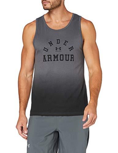 Under Armour Collegiate Tank, Camiseta sin Mangas Hombre, Negro (Pitch Gray/Black), XL