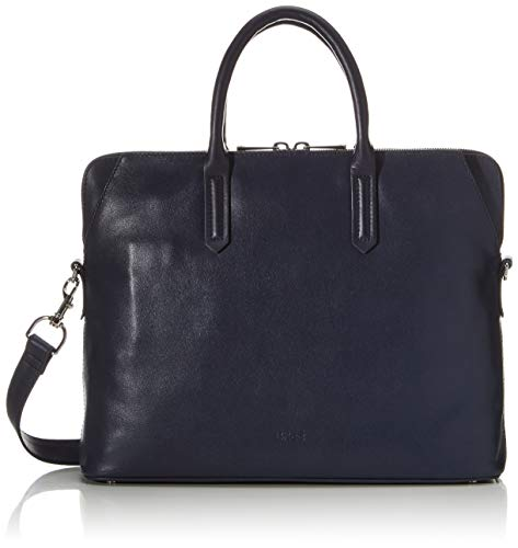 BREE Collection Damen Chicago 7, Blazer, Tophandle Business Tasche, Blau (Navy Blue), 10x30x38 cm