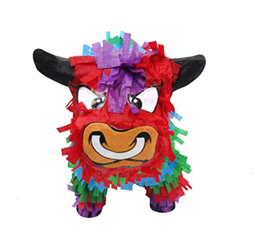 Pinatas Multicolored Bull, 3D Mexican Fiesta Party Game, Centerpiece Decoration and Photo Prop