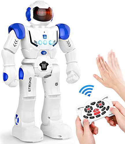 Remote Control Robots for Kids 3+ Years Old, Smart Programmable Interactive RC Robot with Infrared Controller, Gesture Controller, Toys for Kids 3-5 5-7 8-12 Boys and Girls Christmas Birthday Gift
