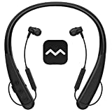 Vivtone Rechargeable Hearing Aid Amplifier Clarity10, Updated Wireless Headphones for TV Watching & Conversation Enhancing, Neckband Pocket Talker with Noise Cancelling for Hearing Assist